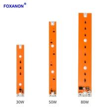 Foxanon полный спектр светодиодный растет лампы накаливания 80 Вт 50 Вт 30 Вт УДАРА СВЕТОДИОДНЫЙ диода завода светать саженцы крытый DIY гидропоники системы