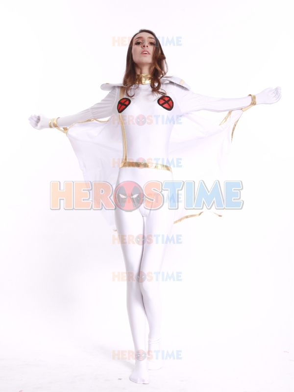 Free Shipping X-Men White Storm Woman Superhero Costume Hot Sale Halloween X-Men Storm Cosplay Costume Custom made