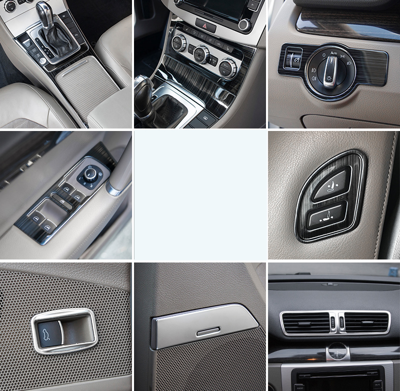Lsrtw2017 Stainless Steel Car Interior Decoration Styling Trims For Volkswagen Passat B7 2011 2012 2013 2014 2015 2016 B7