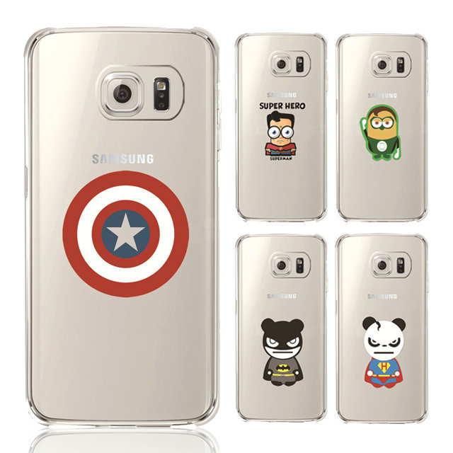 sneakers for cheap ab54f aaae3 US $1.98 |New For Samsung Galaxy S6 Case Soft TPU Clear Cute Superman  Batman Mobile Phone Cases Back Cover For Galaxy S6 Cartoon Capa Case on ...