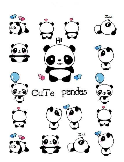 Waterproof Temporary Fake Tattoo Stickers Cute Panda Animals Blue Balloon Cartoon Design Kids Child Body Art Make Up Tools