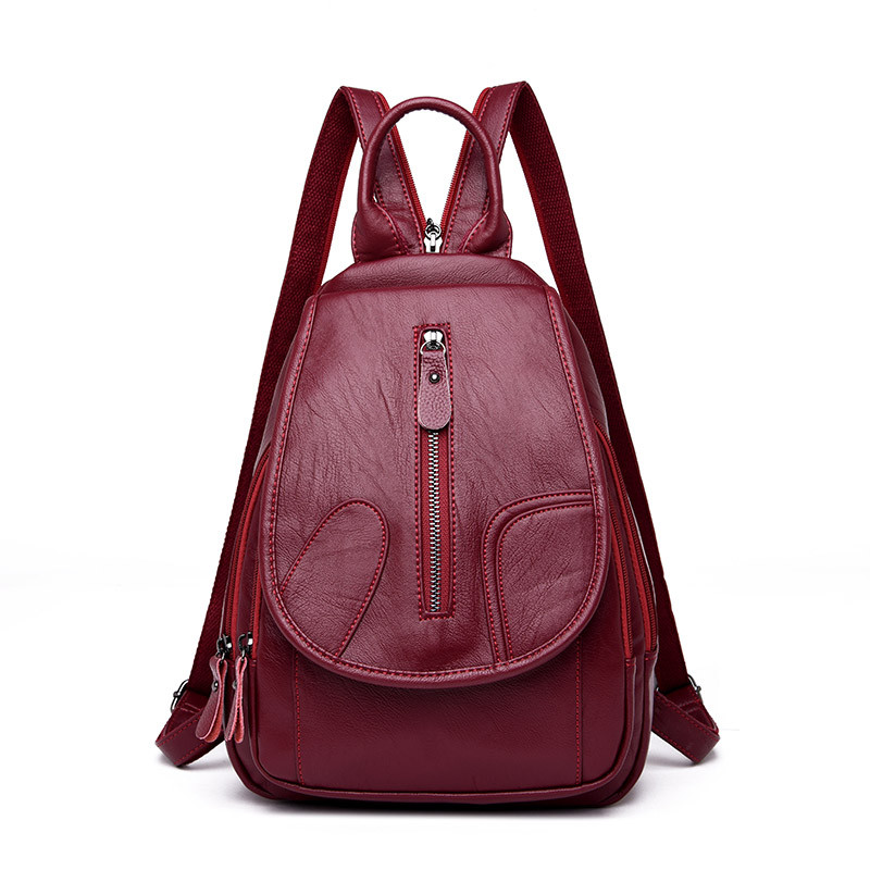 3-in-1 Leisure Women Backpacks Zipper Women's Leather Backpacks Female school Shoulder bags for teenage girls Travel Back pack fashion leisure women backpacks women s genuine leather backpacks female school shoulder bags for teenage girls travel back pack