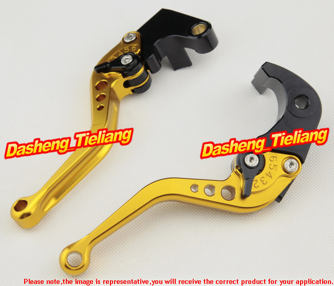 CNC Racing Motorcycle Short Brake Clutch Levers for Honda CBR 1000RR / 1000 RR 2004 2005 2006 2007 CBR1000RR, Gold + Black motorcycle fender eliminator led light tidy tail for honda cbr 600rr cbr600rr 2005 2006 cbr 1000rr cbr1000rr 2004 2005 2006 2007