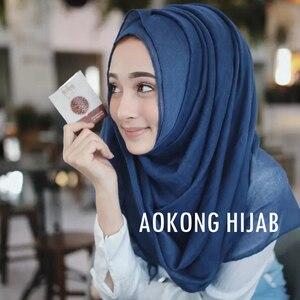 Image 2 - 10 pz/lotto delle donne solido maxi sciarpe hijab della stola oversize scialli islamici foulard testa avvolge morbido lungo musulmano viscosa pianura hijab