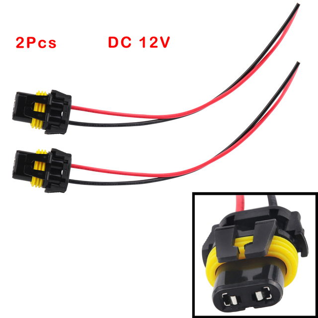 2pcs universal power cord 9005 hb3 9006 hb4 h10 female adapter rh aliexpress com power cord wiring colours power cord wiring australia