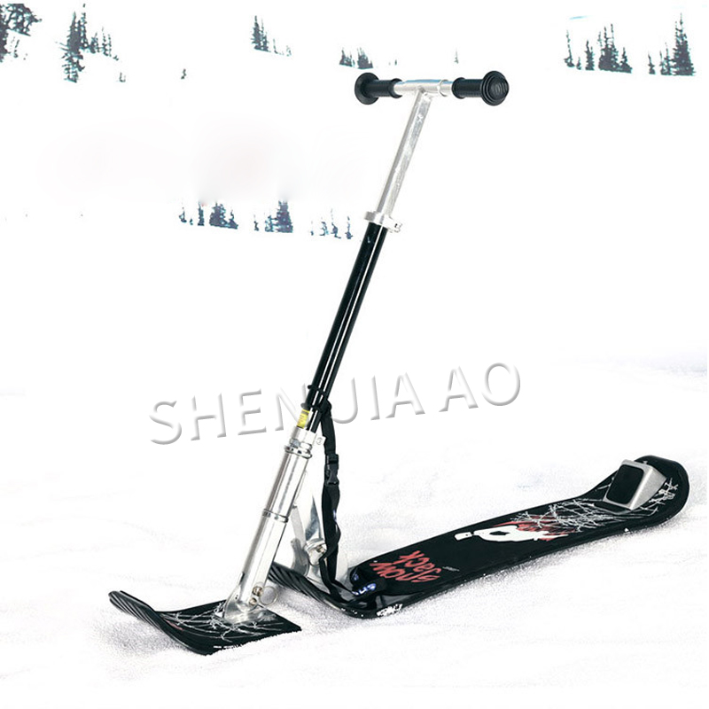 foldable outdoor sled snow sport sleigh skis winter sledge aluminum for children adult new style image