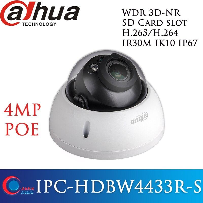 IPC HDBW4433R S Dahua 4MP POE H 265 h 264 IP Camera Network IR cctv Dome