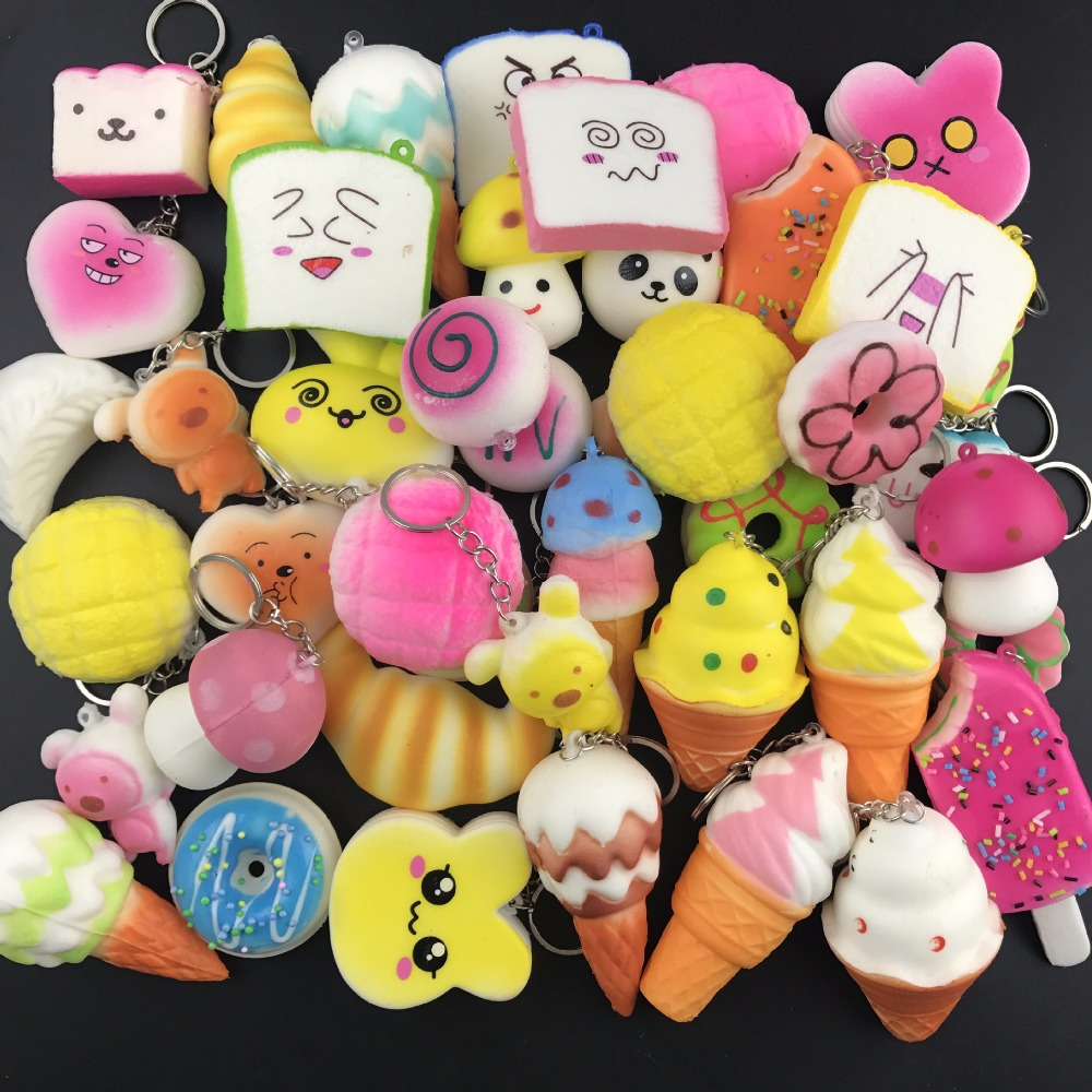 Squishy Antistress Toys For Children Slow Rising Funny Gadgets Kids Stress Relief Cute Squisy Keychain New Squeeze Squichy