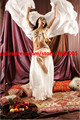 2016 high quality cheap dance veils women's sexy 100% silk belly dance veil wholesale white