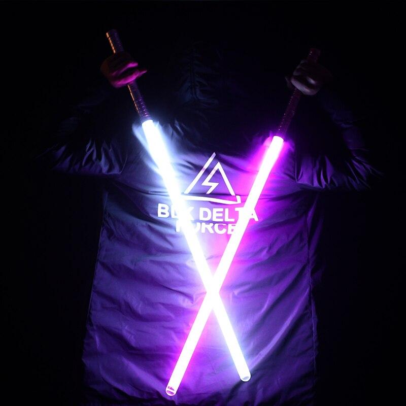 Nueva venta unids 1 pieza Cosplay 100 cm longitud sable de luz espada parpadeante Luke juguete electrónico cielo luz Saber juguete cumpleaños regalo de Navidad - 2