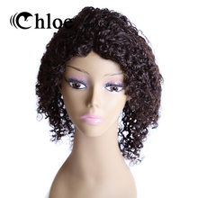 Chloe 100% Human Hair Wigs Brazilian Remy Hair Curly Wave Lace Frontal Wigs Density 130% Free Shipping FT-1373