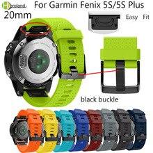 Watchband Strap for Garmin Fenix  5S/5S plus Watch Replacement Quick Release sport silicone Bracelet Easyfit smart WristBands ne