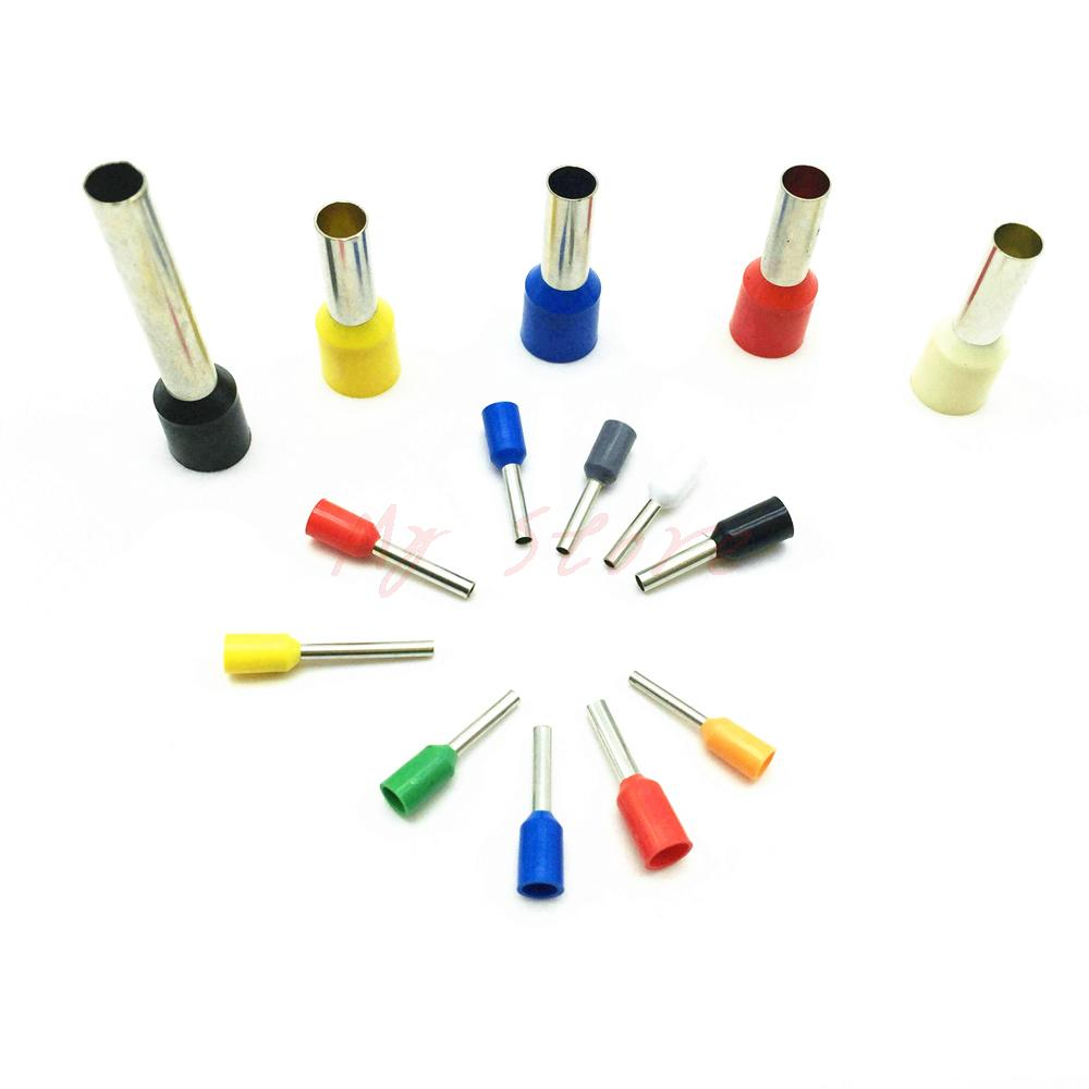 50PCS 12AWG Tube Type Insulated End Terminal Wire Copper Crimp ...