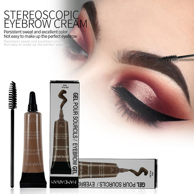 Microblading Eyebrow Tattoo Pen Makeup Henna Eyebrow Gel 6 Color Black Brown Waterproof Liquid Eye Brow Tint Brush Sets