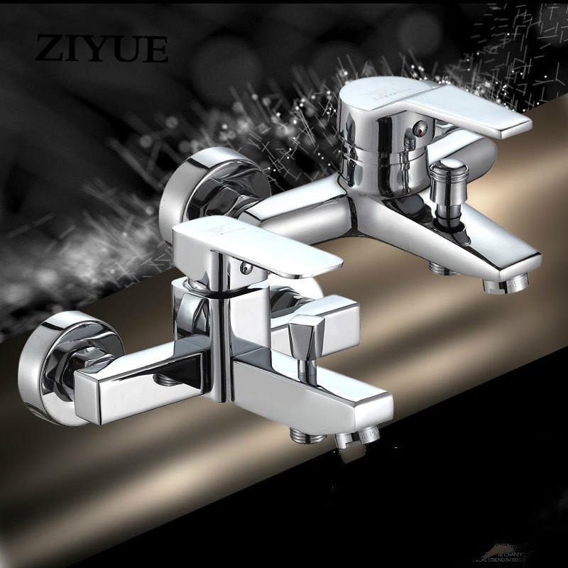 Free Shipping Bathtub Faucet Triple Mixer Valve Shower Faucet Copper Hot And Cold Water Faucet free shipping 3 4 dn20 stainless steel float valve floating valve cold and hot water tank water tower df1211