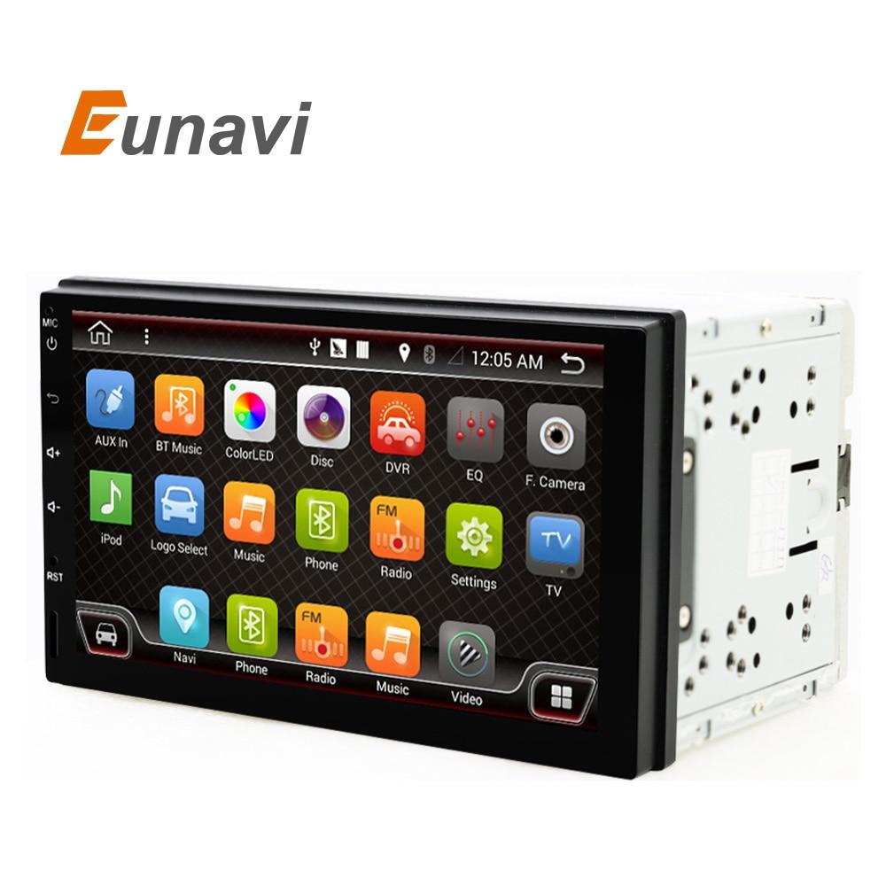 imágenes para Eunavi 441 S 2 din android 6.0 Radio de Coche Doble del Coche universal Reproductor de Radio de Navegación GPS En El tablero PC Del Coche Estéreo de Cuatro Núcleos