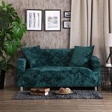 Grün elastischen sofa abdeckung sofa schonbezug 100% polyester engen ecke/couch sofa abdeckung einfarbig l form sofa hussen plüsch