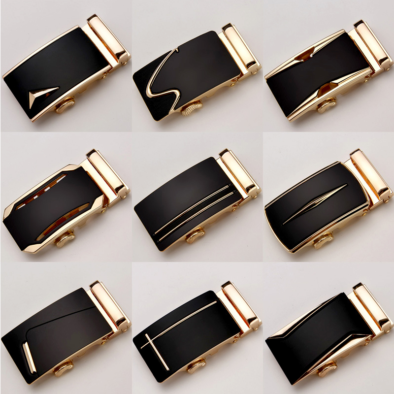 Mens Fashion Business Automatic Buckle For Male Man Designer Leather Belts Buckle Waistband Buckles No Belt Accessories Buckles