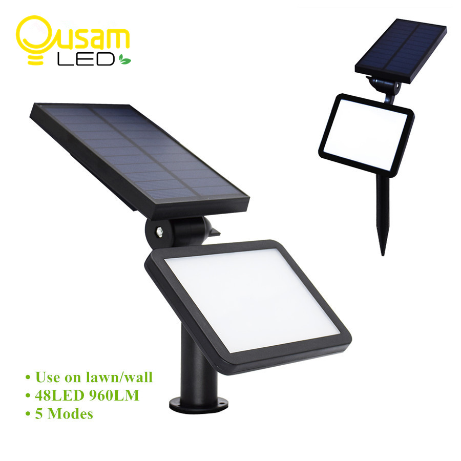 Outdoor Solar Lamp IP65 Waterproof Garden Solar Lights 48leds With Panel Wireless Use On Lawn/Wall Light Super Bright 960LM solar garden lights solar super bright waterproof outdoor festival light garden lawn house