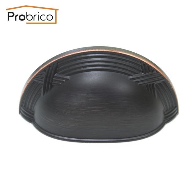 Probrico 15 UNIDS Shell Muebles Perilla Del Cajón 86mm PD81253ORB Metal Antique Bronce Aceitado Manija Del Gabinete de Cocina Armario Tire