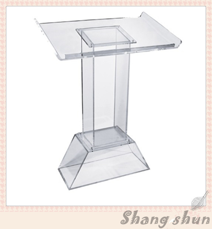 Free Shipping Acrylic Podium, Church Pulpit And Podium, Acrylic Pulpit Furniture, Perspex Podium Dais