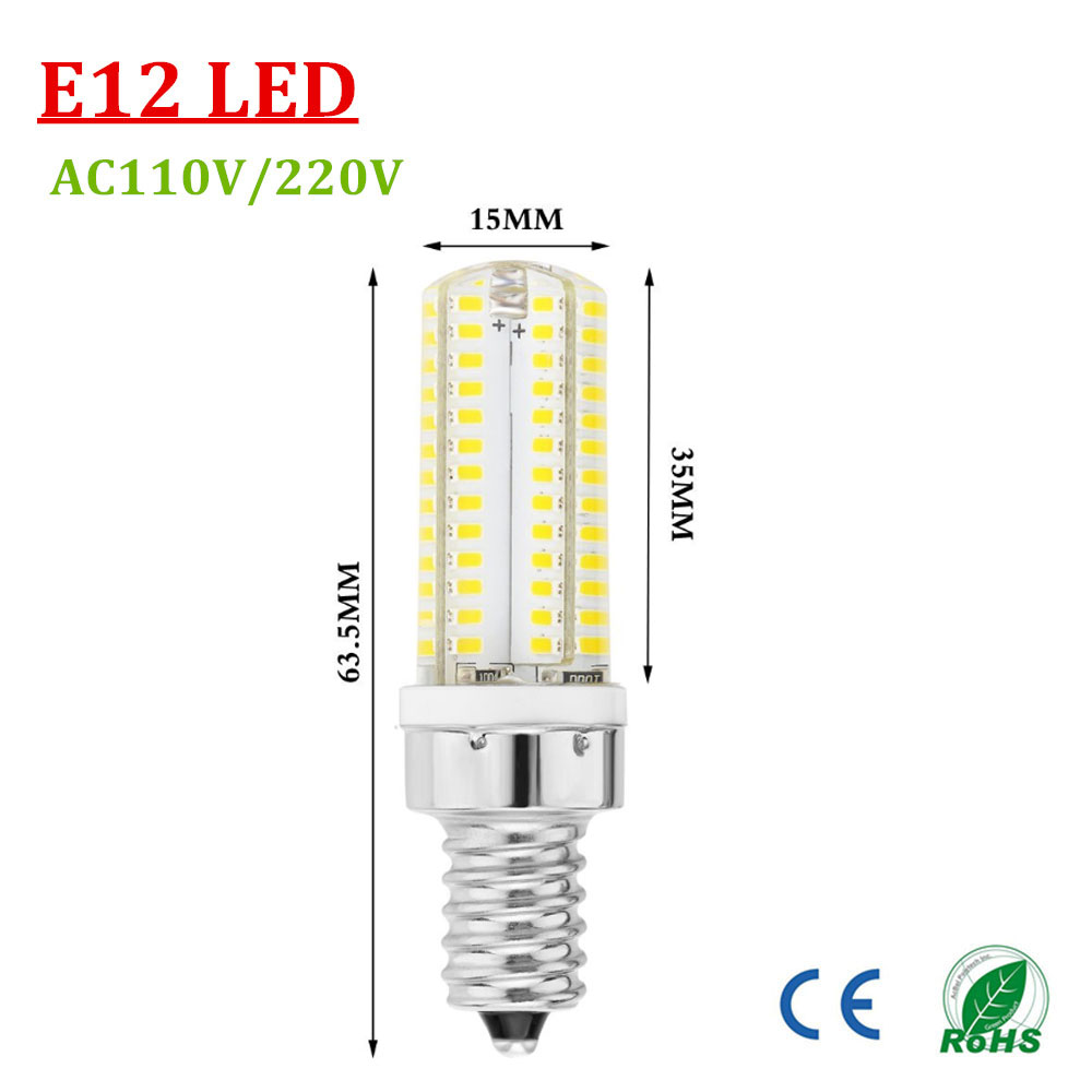 e12 e14 base led bulb 104smd leds light 5w ac220v lamps equal to 40w t3 halogen track bulb. Black Bedroom Furniture Sets. Home Design Ideas
