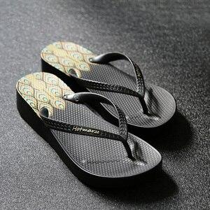 Image 5 - Hotmarzz Women High Heel Platform Flip Flops Wedges Slippers Ladies Summer Slippers Woman House Shoes Beach Thong Sandals