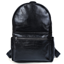 Tiding Leather Backpack for College Cool Crocodile Backpack Back to School Sales Men Book Bag 31231