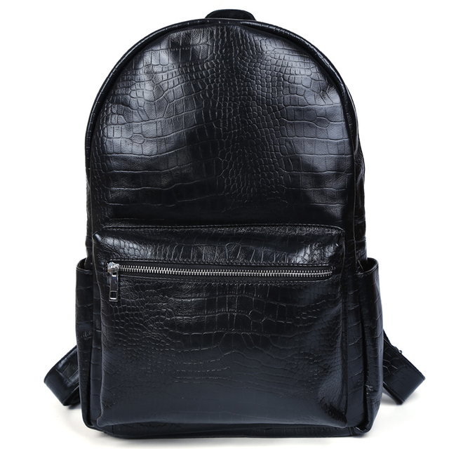 0938e14803 Tiding Leather Backpack for College Cool Crocodile Backpack Back to School  Sales Men Book Bag 31231