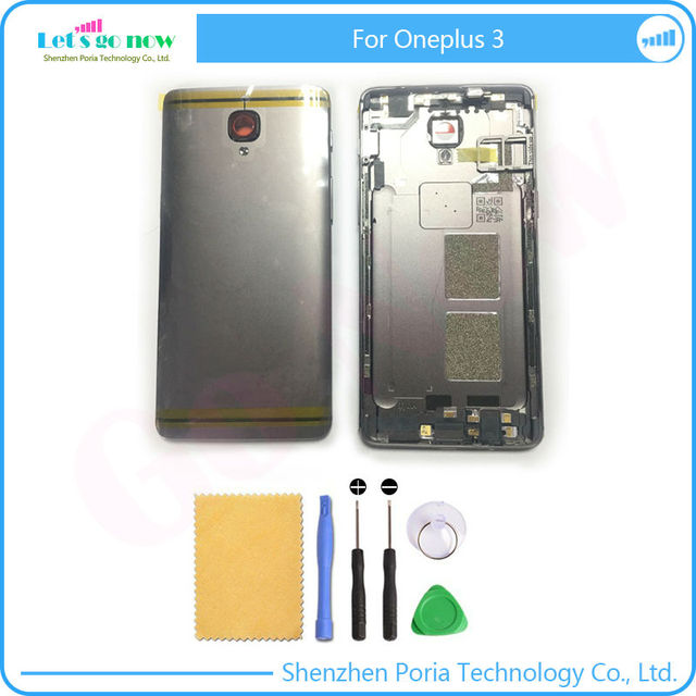 Original New Back Cover Back Battery Housing Door With Side Button+Sim Card Tray+Camera Glass Len For Oneplus 3 A3000 A3003