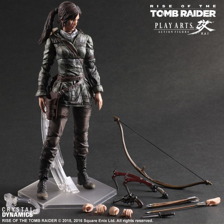 The Tomb Raider Action Figure Lara Croft Play Arts Kai Toys PVC 280mm Anime Movie Toys Rise of The Tomb Raider Playarts Lara game 26 cm rise of the tomb raider lara croft variant painted figure variant lara croft pvc action figure collectible model toy