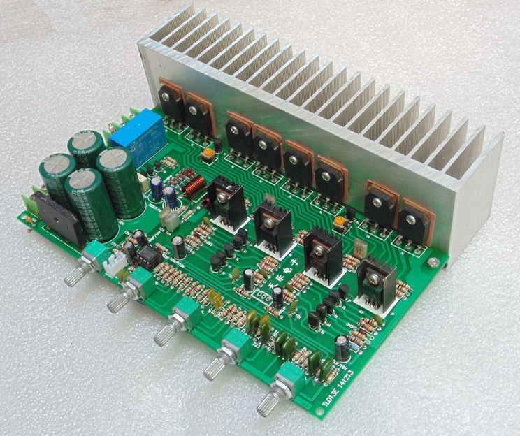 Eight-tube High-power Field-effect Amplifier with Tone and Two-channel Karaoke Singing Amplifier BoardEight-tube High-power Field-effect Amplifier with Tone and Two-channel Karaoke Singing Amplifier Board