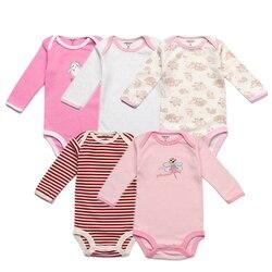 5 упаковок, Детские боди, оригинальные Комбинезоны для младенцев, Осенние Комбинезоны, хлопковые комбинезоны, комплект одежды для маленьких...