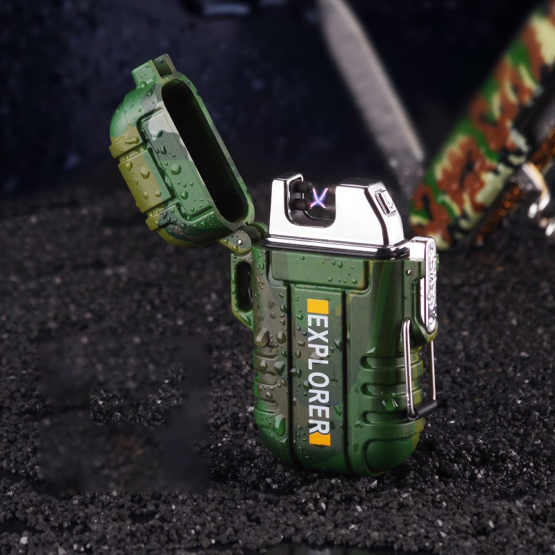 Doppel ARC Leichter Plasma Wasserdicht Für Out Door Camping Sport USB Elektrische Feuerzeug Für Zigarette Rauchen