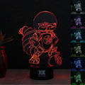 ICE Age ardilla Espacio Lámpara 3D Visual Led Luces de La Noche de Lampara de Mesa ya que Además de Lampe Bebé Durmiendo niño Touch USB Nightlight