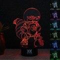 Lâmpada Espaço esquilo Era do GELO 3D Visual Led Luzes da Noite para garoto Lampe Lampara pois Além de Toque USB lâmpada de Mesa Do Bebê Dormir Nightlight