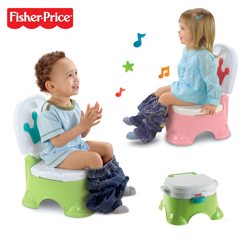 2017 New Fisher Price BGP36 Royal Step Stool Potty Music Reward Children Funny Toilet Time Multi-function Chair genuine fisher price interactive fun music learning wheel bilingual machine funny baby growing up education toy x6517