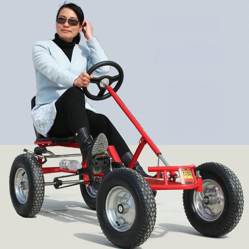 16 pouces roue adulte go-karts, frein à main adulte karts, peut charger 100 KG