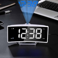With Time Projection Fm Radio Clock Projection Clock Led Digital Electronic Table Watch Desktop Projector Clock