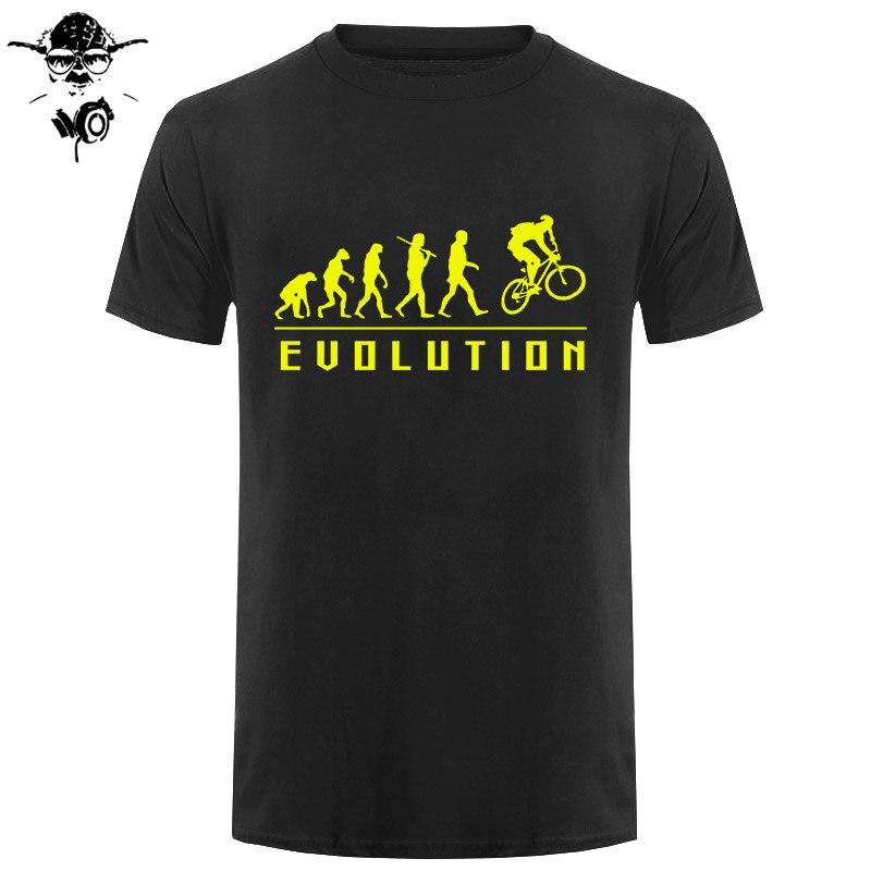 Engraçado presente de aniversário para homem irmão menino amigo pai filho evolução do ciclismo camiseta ciclo motociclista verão algodão t camisas
