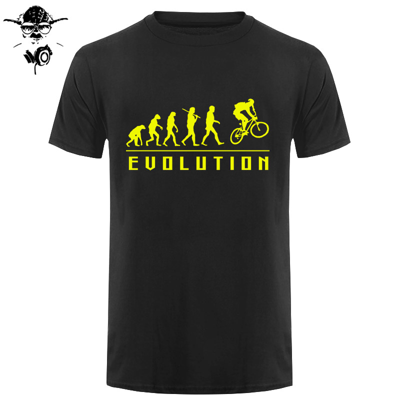 Funny Birthday Present For Men Brother Boy Friend Dad Father Son Evolution Of Biking   T  -  Shirt   Cycle Biker Summer Cotton   T     Shirts
