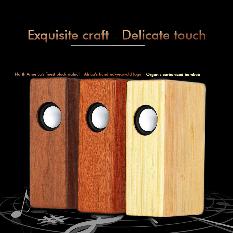 Wireless Bluetooth Speaker Wood Portable Mini Speaker Subwoofer Bluetooth Column Sound Music Surround Desktop For Cell Phone