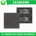 3pcs 1/16 Scan 3in1 SMD RGB P3 Indoor Full color P3 LED module for Advertising media HD LED Display 192*192mm 64*64 pixels