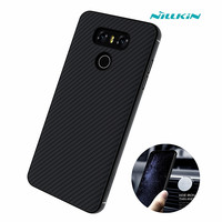 For LG G6 Luxury Brand Case Original NILLKIN Synthetic Carbon Fiber PP Plastic Hard Back Shell