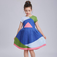 Toddler Dresses Princess Costume 2017 Brand Girls Summer Dresses Rapunzel Children Pleated Dress Kids Clothing Vestido