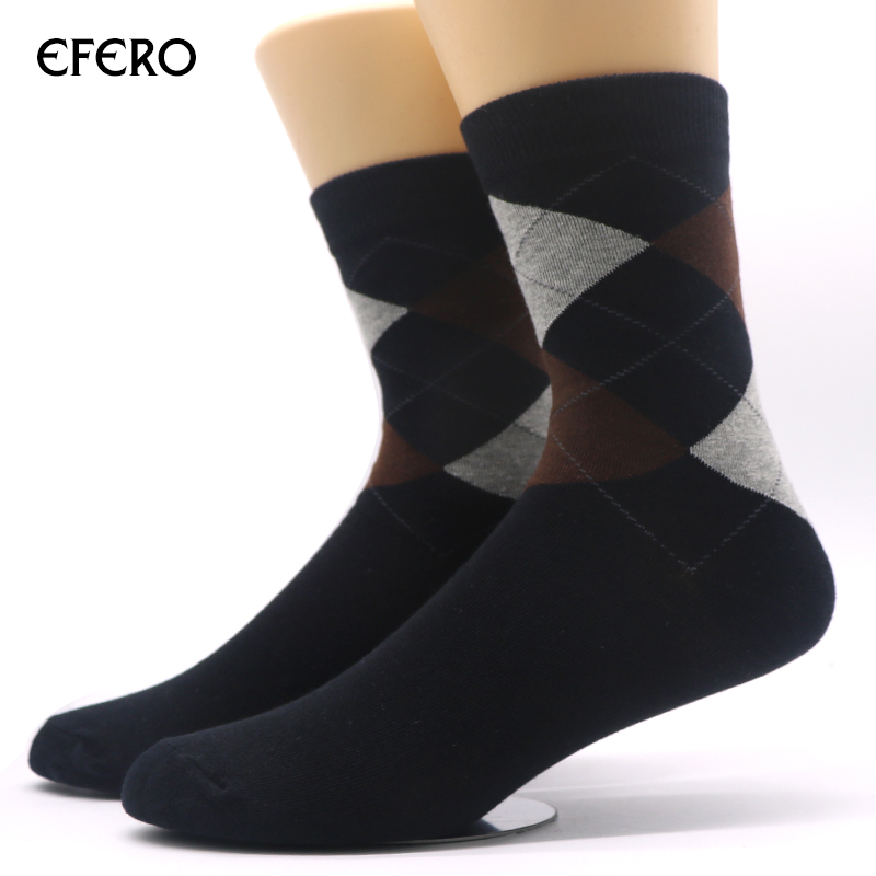efero 1Pair Winter Socks for Men Warm Classical Socks Long Thermal Cotton Socks for Male Fashion Business Compressie Dress Socks