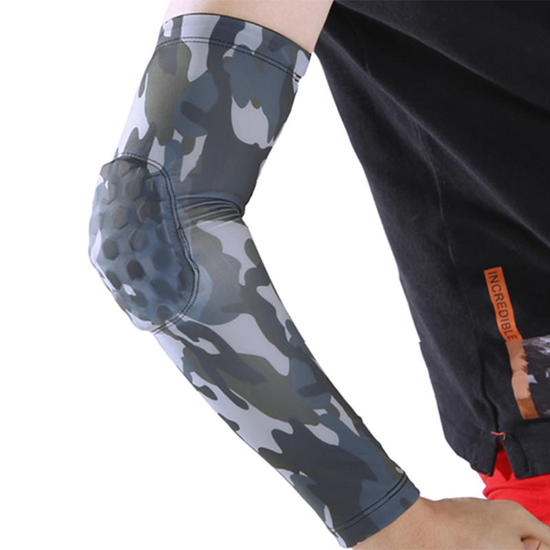 1Pcs Camouflage Breathable Brace Support Lengthen Arm Sleeves Guard Universal Sports Safety Protection Elbow Pads Arm Warmers