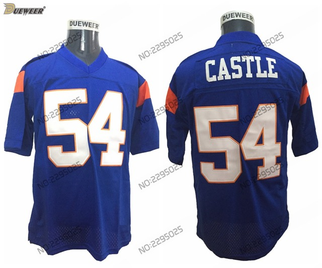 aa7fa0f39 ... DUEWEER Mens Kevin Thad Castle Blue Mountain State Football Jerseys