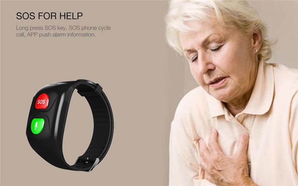 2019 Smart Watch Women Old Men GPS SOS Call Safe Tracker Bracelet Heart Rate Monitor Wristband Waterproof Sport Smartwatch S1 in Smart Wristbands from Consumer Electronics