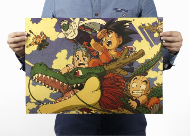 DRAGON BALL Cartoon Vintage Classic Poster Home Decoration School Office Retro Posters And Prints